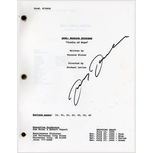 Autographed Xena Script by Lucy Lawless: Cradle of Hope
