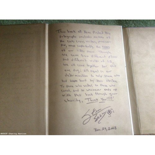 Multi Autographed 2008 Steven Sears Writers Guild Autograph Book by Xena Cast, Writers & Production