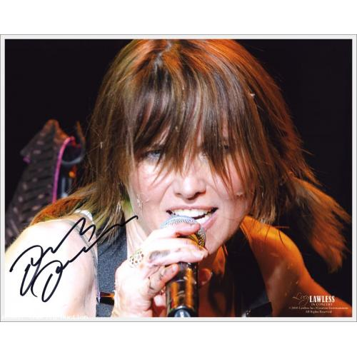Autographed Lucy Lawless in Concert Photo #3