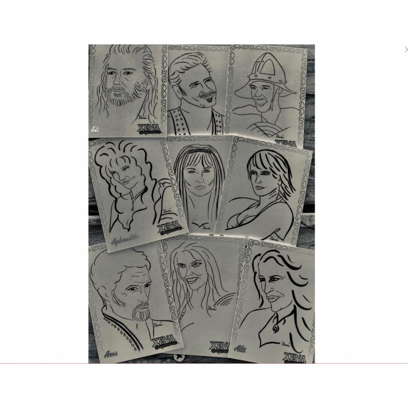 Renee O'Connor Donated Original ROC Art Series Trading Pack (HOB)