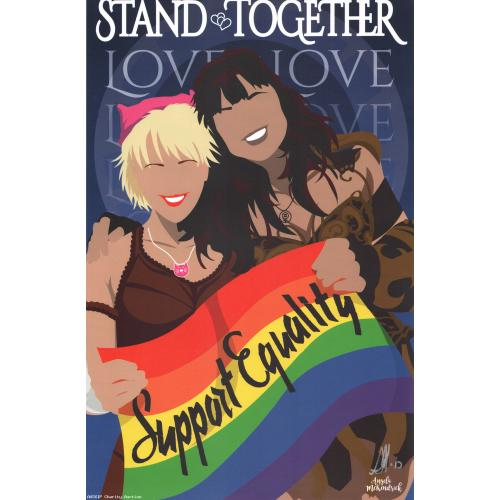 Autographed Xena & Gabrielle Marriage Equality Support Poster 11 x 17